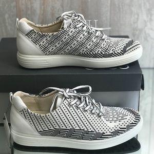 03681abd2c4dcc ECCO Women's Golf Casual Hybrid Shoes White Black